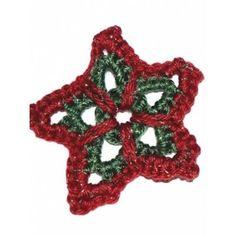 Christmas Star Ornament Free Easy Holiday Decor Crochet Pattern