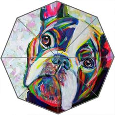 NEW French Bulldog Triple Foldable Sun and Rain Umbrella