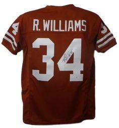 Ricky Williams Autographed Texas Longhorns Size XL Orange-Rust Jersey  HT  98  JSA 38eeec12f