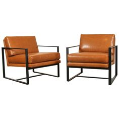 $2510 per item 30 in.Hx28 in.Wx33 in.D  Leather Box Chairs by Lawson-Fenning 1