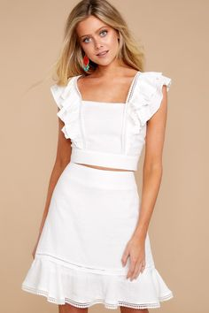 See what's new today at Red Dress. Red Dress has new arrivals on the latest dresses, clothes and shoes for women. Two Piece Dress Casual, White Two Piece Outfit, Rush Dresses, Casual Dresses, Summer Wedding Outfits, Summer Outfits, White Outfits, Fashion 2020, Dress To Impress