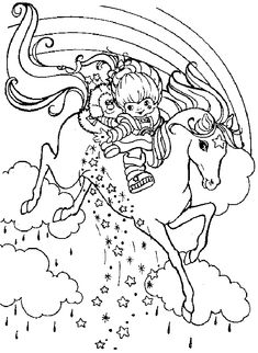 rainbow berit coloring | Coloring page : Rainbow Brite - Coloring.me