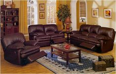 living room designs for chocolate couches | ... LIVING ROOM INTERIOR DESIGN Dark Brown Leather Match Living Room Set