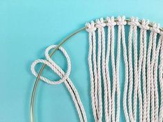 DIY: Brass Ring Macrame Dream Catcher - Have you been bitten by the macrame bug? We love it here at Brooklyn Craft Company, not just because we have to do all the crafts but also because we . Macrame Supplies, Macrame Projects, Diy Projects, Macrame Rings, Macrame Cord, How To Make Letters, Half Hitch Knot, Do It Yourself Jewelry, Diy Rings