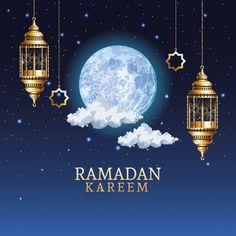 Ramadan Kareem Celebration With Golden Lanterns Hanging Illustration Bon Ramadan, Ramadan Cards, Ramadan Wishes, Islam Ramadan, Blue Roses Wallpaper, Bear Wallpaper, Wallpaper Iphone Cute, Islamic Images, Islamic Art