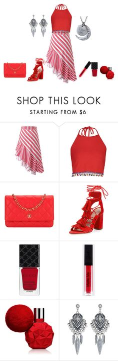 """Untitled #237"" by rosshandmadecrafts ❤ liked on Polyvore featuring Boohoo, Chanel, Loeffler Randall, Gucci and Accessorize"