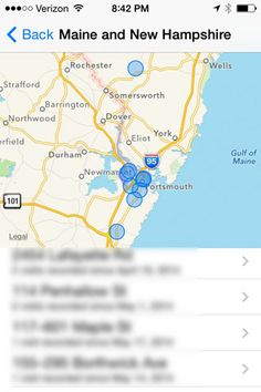 iphone location history in settings