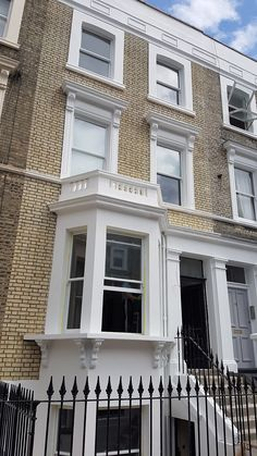 Fulham, London property looking good with its new Victorian 1 over 1 Sash windows supplied by Timber Windows Direct.