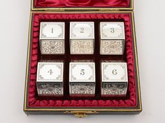 Cased Set of 6 Victorian Engraved Napkin Rings, Circa 1890 (ID 48149) by…