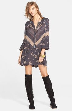Free People 'From Your Heart' Print Dress | Nordstrom