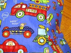 NEW Fire Truck and More MINI Pillowcase kids/travel pillowcase | MadeAtNanas - Housewares on ArtFire