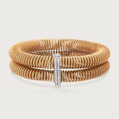ALOR Kai .24 Carat Total Weight Diamond Bracelet in Stainless Steel and 18-Karat White Gold (825824) | Sidney Thomas