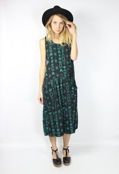 Bohemian Maxi Dress Made in Guatemala Material: 100% Cotton Size: X Large  Measurements Bust: 39 in Waist: 39 in Hips: 60 in Length: 45.5 in