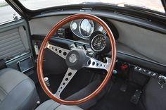 Speedwell Formula Steering wheel and grey interior