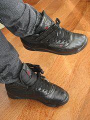 e6ad90ed1c8 Black Reebok Freestyle Hi. Perfect! Reebok Freestyle