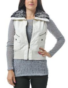 (CLICK IMAGE TWICE FOR DETAILS AND PRICING) Daylamy Leatherette Vest Beige. This trendy vest looks fab with your warm turtleneck and fitted jeans.. See More Coats and Jackets at http://www.ourgreatshop.com/Coats-and-Jackets-C76.aspx