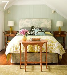 LOVE this room, check out the link for tons of great headboard ideas and pretty rooms