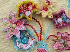 Tutorial: Scrap fabric 3-D flower embellishments · Sewing | CraftGossip.com