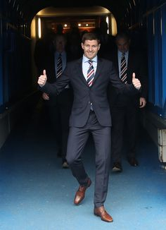 Steven Gerrard Photos - Steven Gerrard is unveiled as the new manager of Rangers football Club at Ibrox Stadium on May 2018 in Glasgow, Scotland. - Steven Gerrard Is Unveiled As The New Manager At Rangers Liverpool Uefa Champions League, Liverpool Players, Liverpool Football Club, Liverpool Fc, Rangers Football, Rangers Fc, Football Players, Inspirational Football Quotes, Soccer Jokes