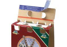 6er Bier Träger • Integrierter Selbstklebeverschluss für rationelles Verschließen • #T4P, #Getränkeverpackung, #Offsetdruck Packaging, Beer, Flasks, Products, Wrapping