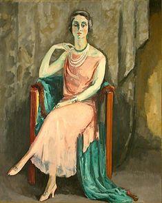 """Portrait de Madame Jenny"", 1923, by Kees van Dongen (Dutch 1877-1968)"
