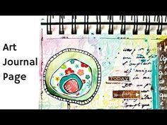 Art Journal Page with Distress Markers - YouTube
