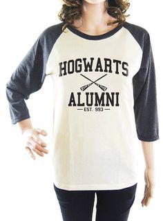 Hogwarts Alumni tshirt harry potter tshirt women tshirt men tshirt baseball tshirt raglan tshirt long sleeve tshirt size S M L