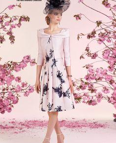Ronald Joyce Dress & Jacket 991213, colour Pink / Navy.