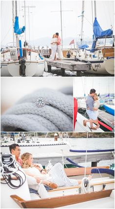 Somer MT Engagement Photo Sailboat Engagement Kissing on a Boat  - Pinecone Photography by Esther Westover www.pineconephotography.com