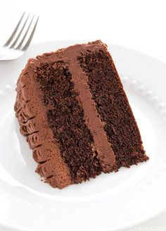 Chocolate Cake with Chocolate Buttercream Frosting - this is the BEST chocolate cake I've ever had!!
