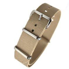 410d94f2d1c HDT Design N.A.T.O. Type Nylon Watch Strap Beige  22mm