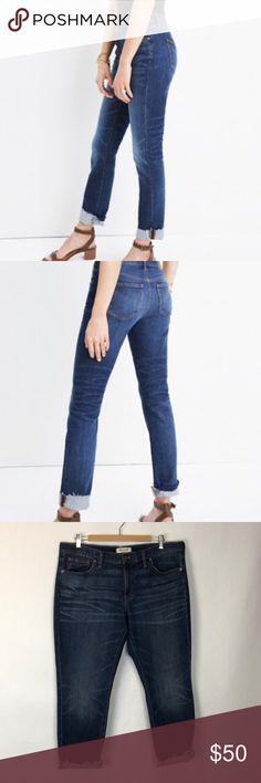 32cd3138bbaa Madewell Slim Boyfriend Jeans Size 31 With Raw Hem Madewell slim boyfriend  jeans Size 31 Raw Hem Cropped fit