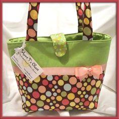 Brown & Pink Polka Dot with Green Medium Diaper by aunttscloset, $29.99