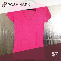 Pink V Neck T-Shirt Pink V Neck T-Shirt Wet Seal Tops Tees - Short Sleeve