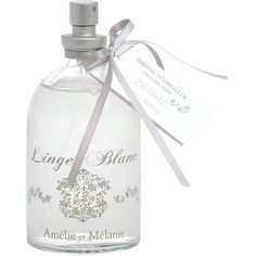 Buy Amelie et Melanie White Linen Pillow Mist, 100ml online at... ($12) ❤ liked on Polyvore featuring fillers, bottles, backgrounds, makeup and perfume