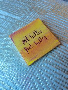 Eat Better Feel Better Magnet by TOrCArt on Etsy