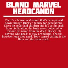 There's a house in Vermont that's been passed down through Bucky's family for generations. Since he never had children and it's so far back from civilization, the bank never bothered to remove his...