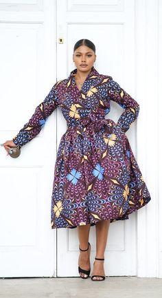 Kobe African Print Midi Dress Big Size Fashion, Business Dresses, Short Dresses, Midi Dresses, Purple Dress, Body Types, Kobe, Stylists, African