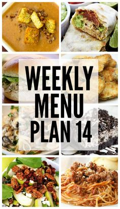 Weekly Menu Plan - a