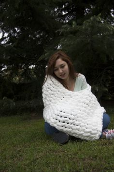 Cozy blanket giant knitting You should check out this Etsy shop: https://www.etsy.com/shop/Raspery