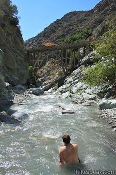 Bridge to Nowhere in the San Gabriel Mountains (rapid falls, bridge going no where, nature, I'm in)