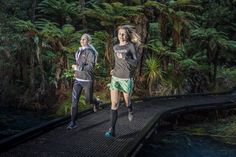 Shannon Leigh-Lit and Kate Townsley having fun in the redwood forest Rotorua NZ Running Images, Rotorua New Zealand, Redwood Forest, Mead, Have Fun, Photography, Photograph, Photography Business, Photoshoot