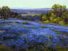 Robert Julian Onderdonk - Bluebonnets, Late Afternoon, North of San Antonio - 1920