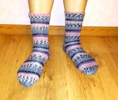 Womens handmade knitted socks. by Ramzijashop on Etsy