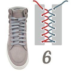 10 originales formas de amarrar tus agujetas