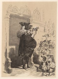 Illustrations by H. L. Stephens for Death and Burial of Poor Cock Robin, circa 1865.  Who'll be the parson?  I, said the Rook,  with my little book,  I'll be the parson.