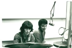 George Harrison and Hal Blaine at Sound Recorders in 1968