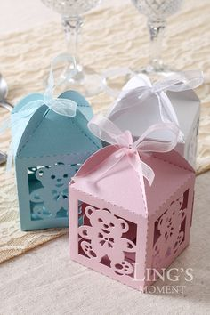 12pcs Laser Cut Favor Boxes with by BlissByLingsMoment on Etsy