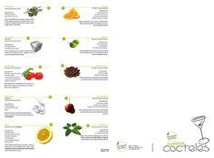 "Carta Cócteles ""restaurante la oliva"" by alberto vega diseño gráfico & web, via Flickr"