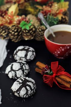 ChOcolate crinkles #chocolate #cookies #christmas